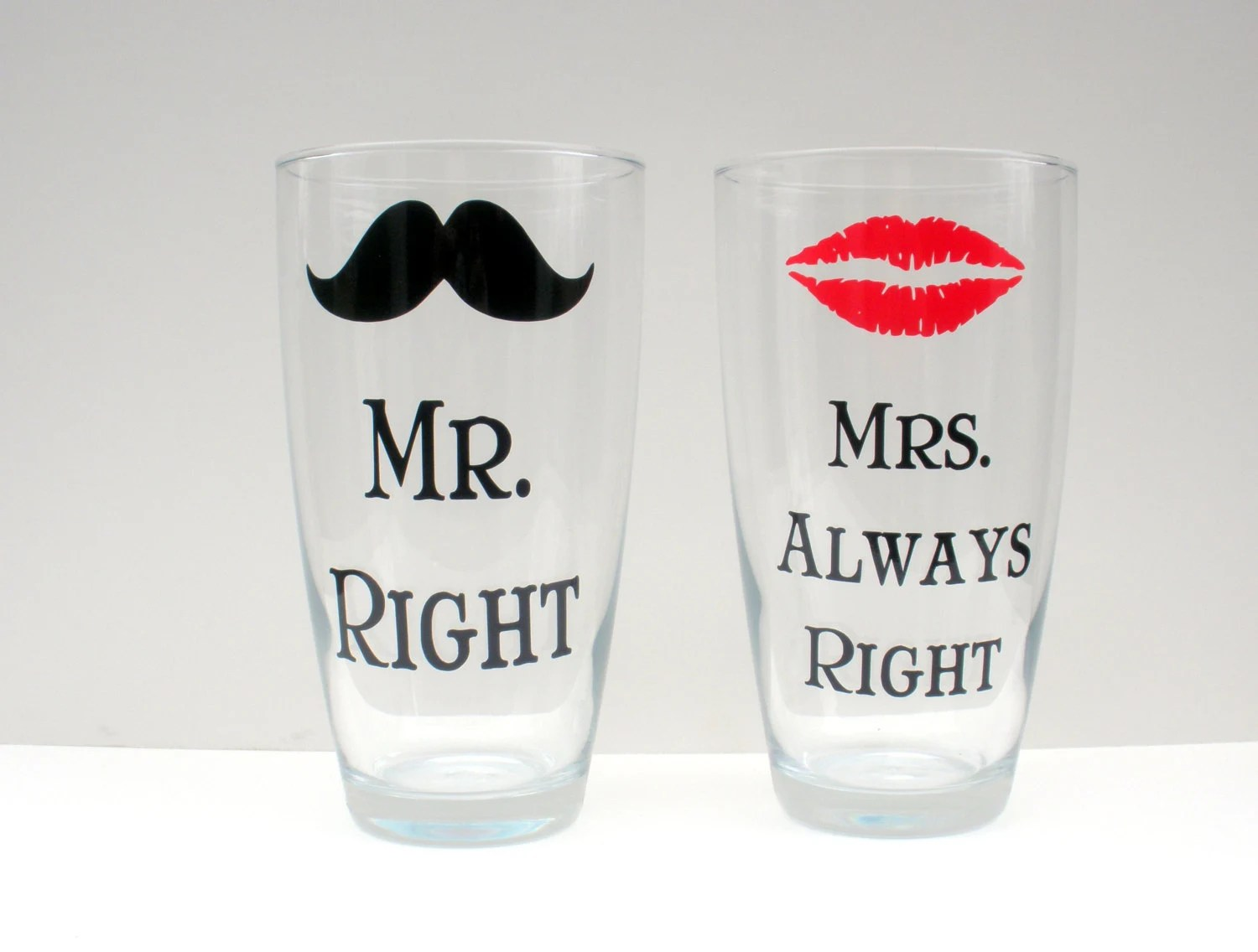 Mr Right And Mrs Always Right Glasses Set Of 2 By