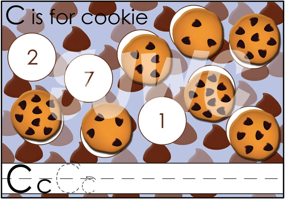 C Is For Cookie Alphabet File Folder Game Downloadable