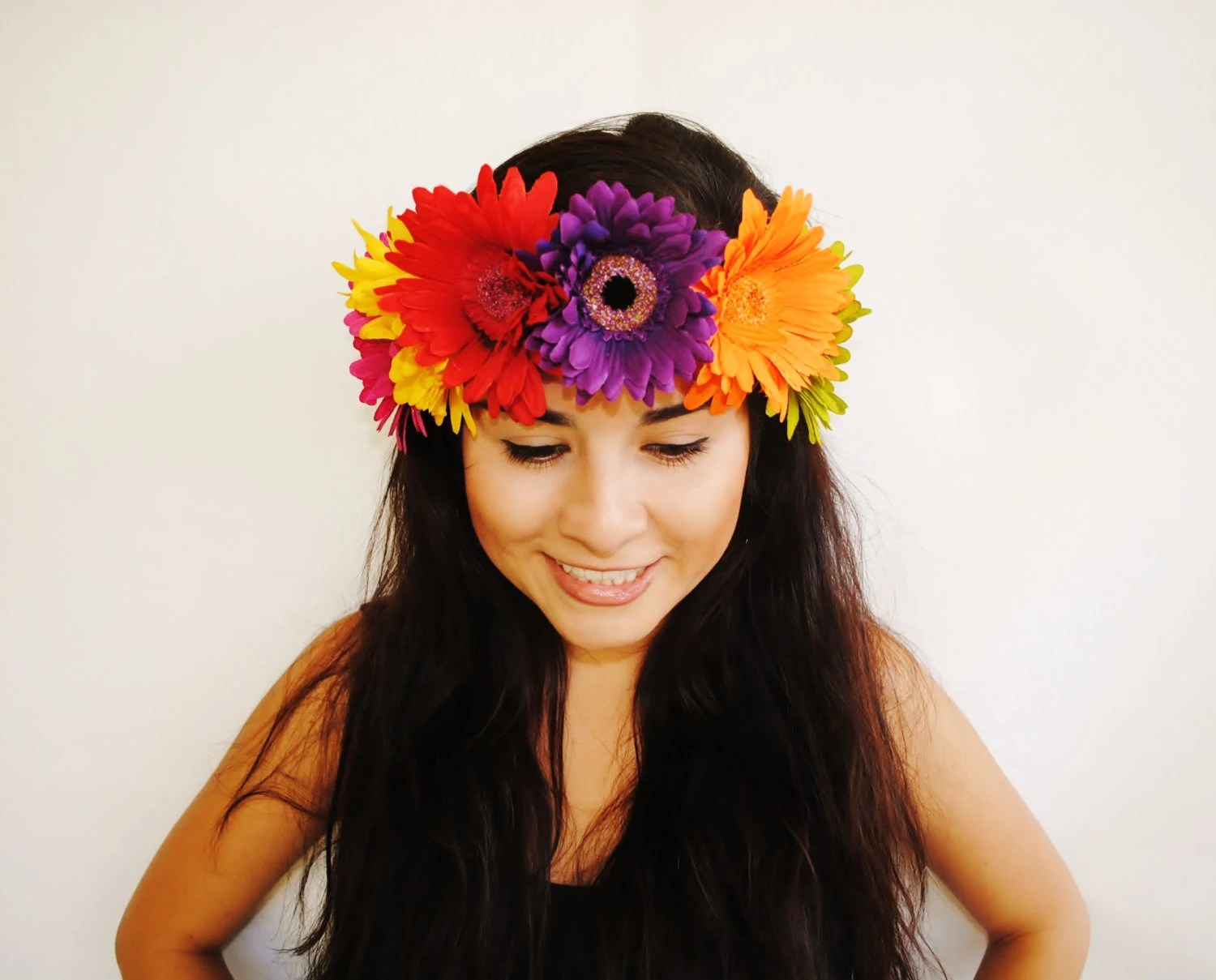 Items Similar To Colorful Daisy Flower Crown Floral