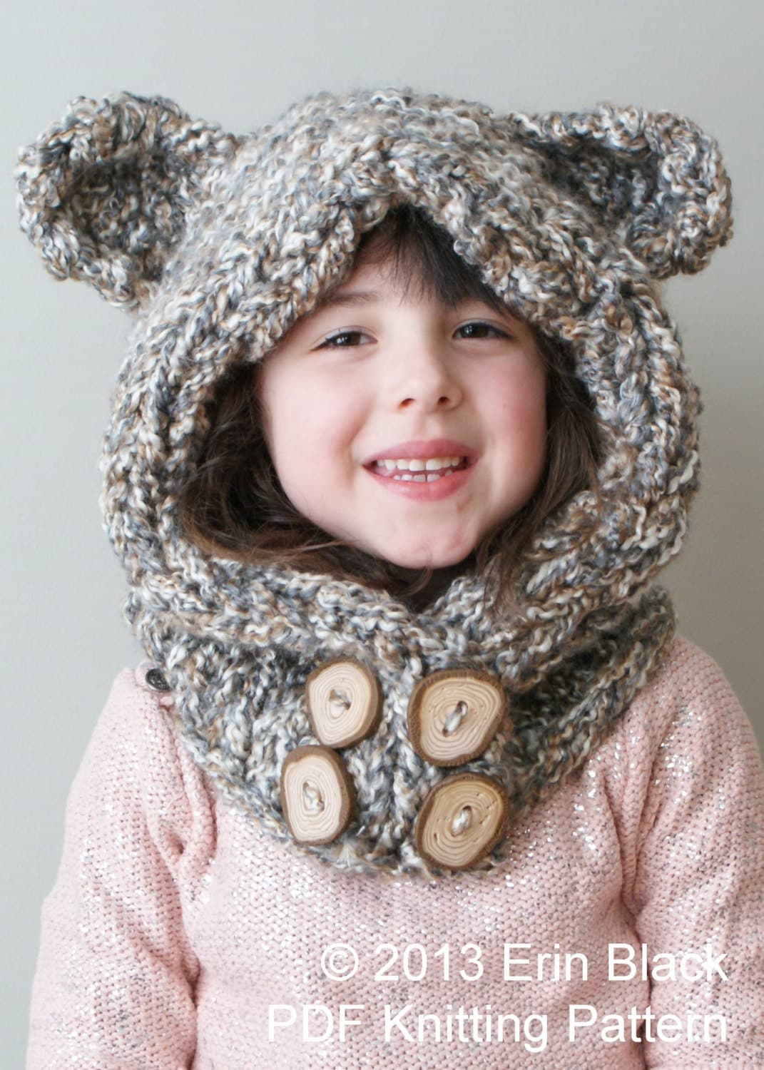 Diy Knitting Pattern Chunky Bear Hood In Toddler Child And