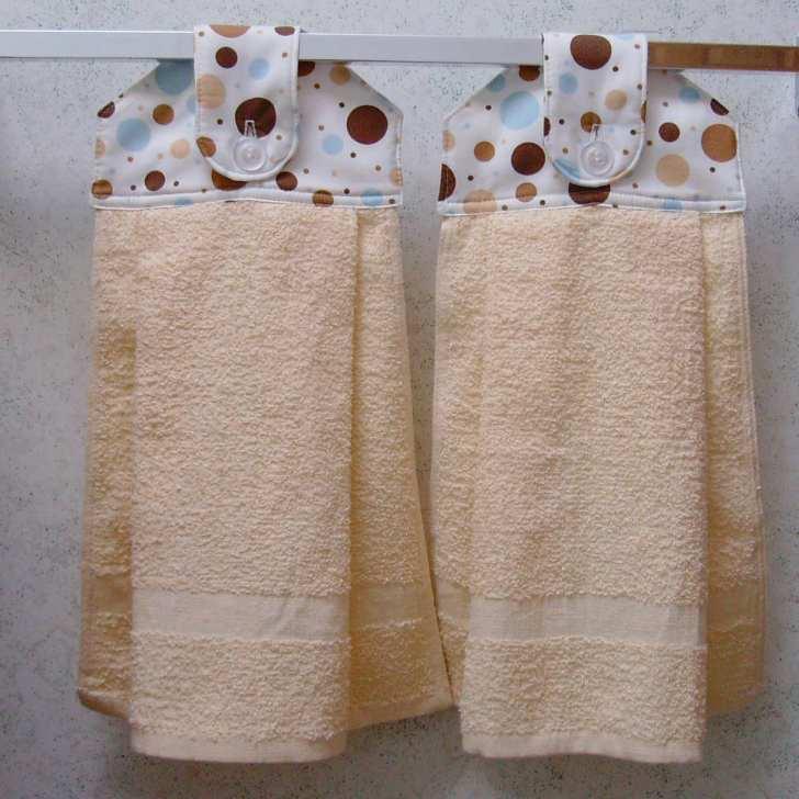 Hanging Cloth Top Kitchen Hand Towels Retro Polka Dot Print