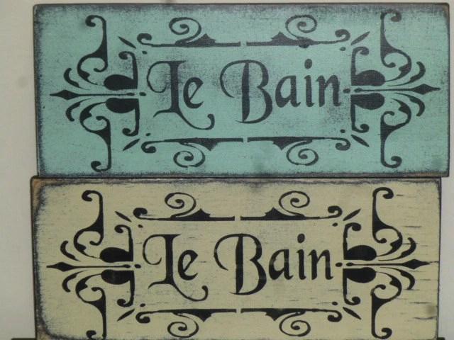 SHABBY LE BAIN sign / French Bath sign
