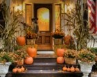 Autumn Photography Halloween Photograph Fall Colors Photo Pumpkins House Decorations Orange oth34