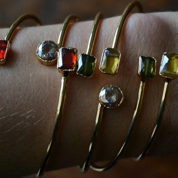 Lux Divine Zirconia Wrap Armband / / / Gold