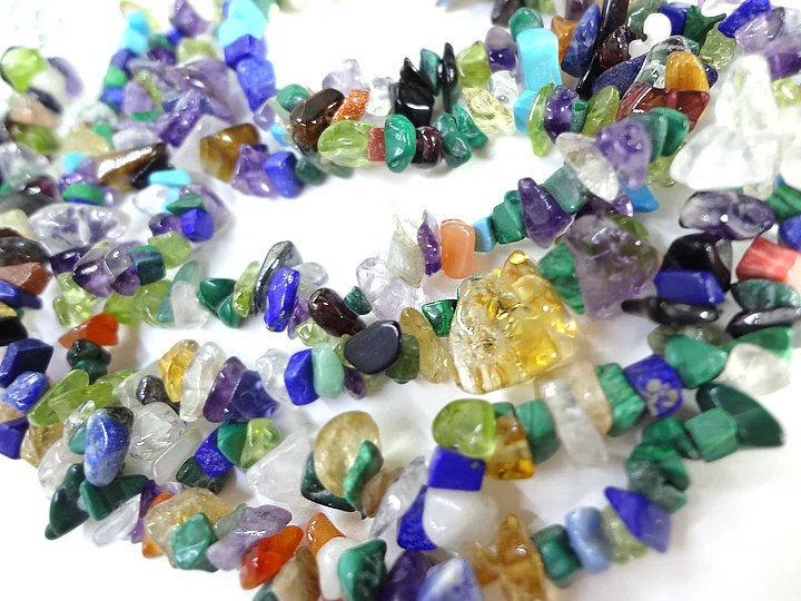 Mixed Stone Tiny Chip Beads Jewelry Making Supplies - MegansBeadedDesigns