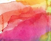 Abstract Art Print, Watercolor Painting, Bliss - soveryhappyart