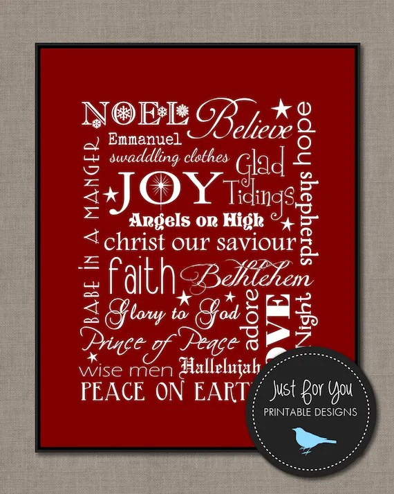 Christian Christmas Subway Art Printable