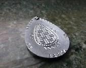 Vintage Swedish necklace pendant / Lapland Sami pewter pendant - Scandivintage