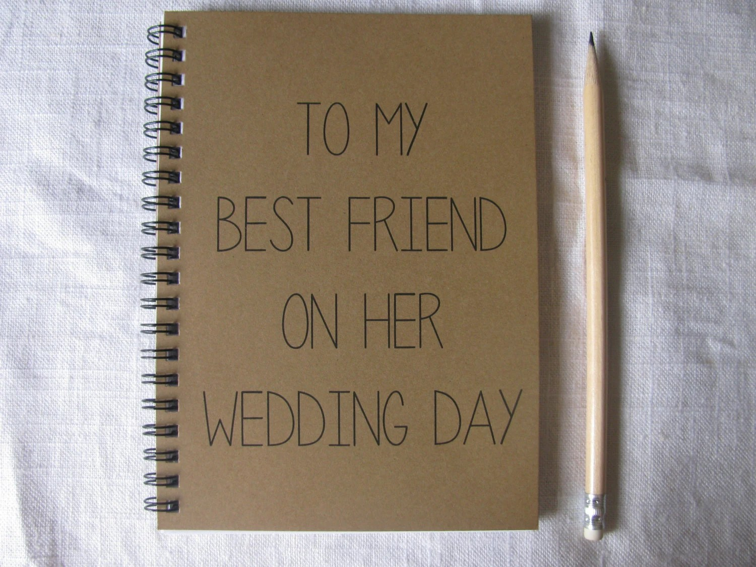 To My Best Friend On Her Wedding Day 5 X 7 By JournalingJane