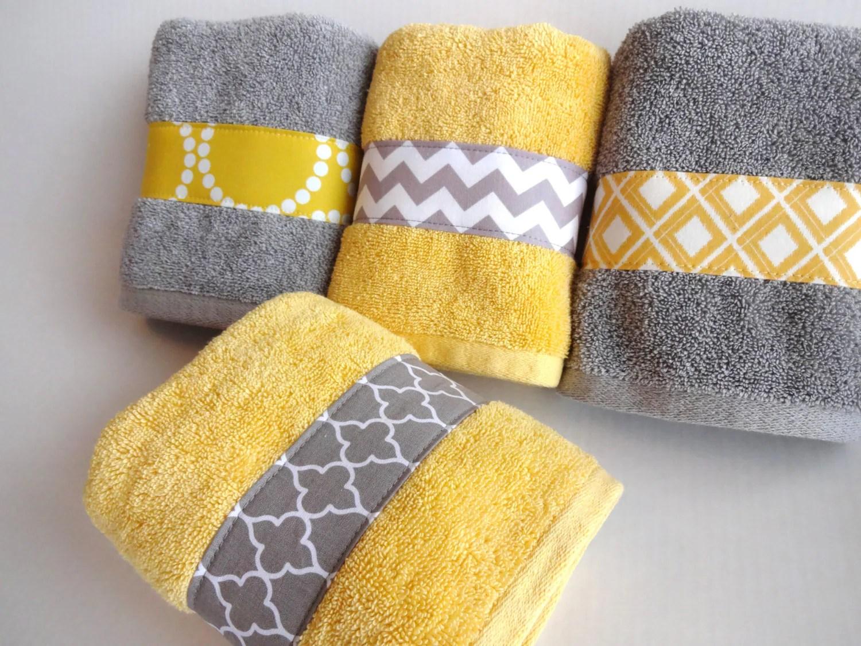 Chevron Print Bath Towels