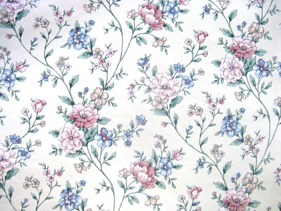 Antiqued Blue Floral Background