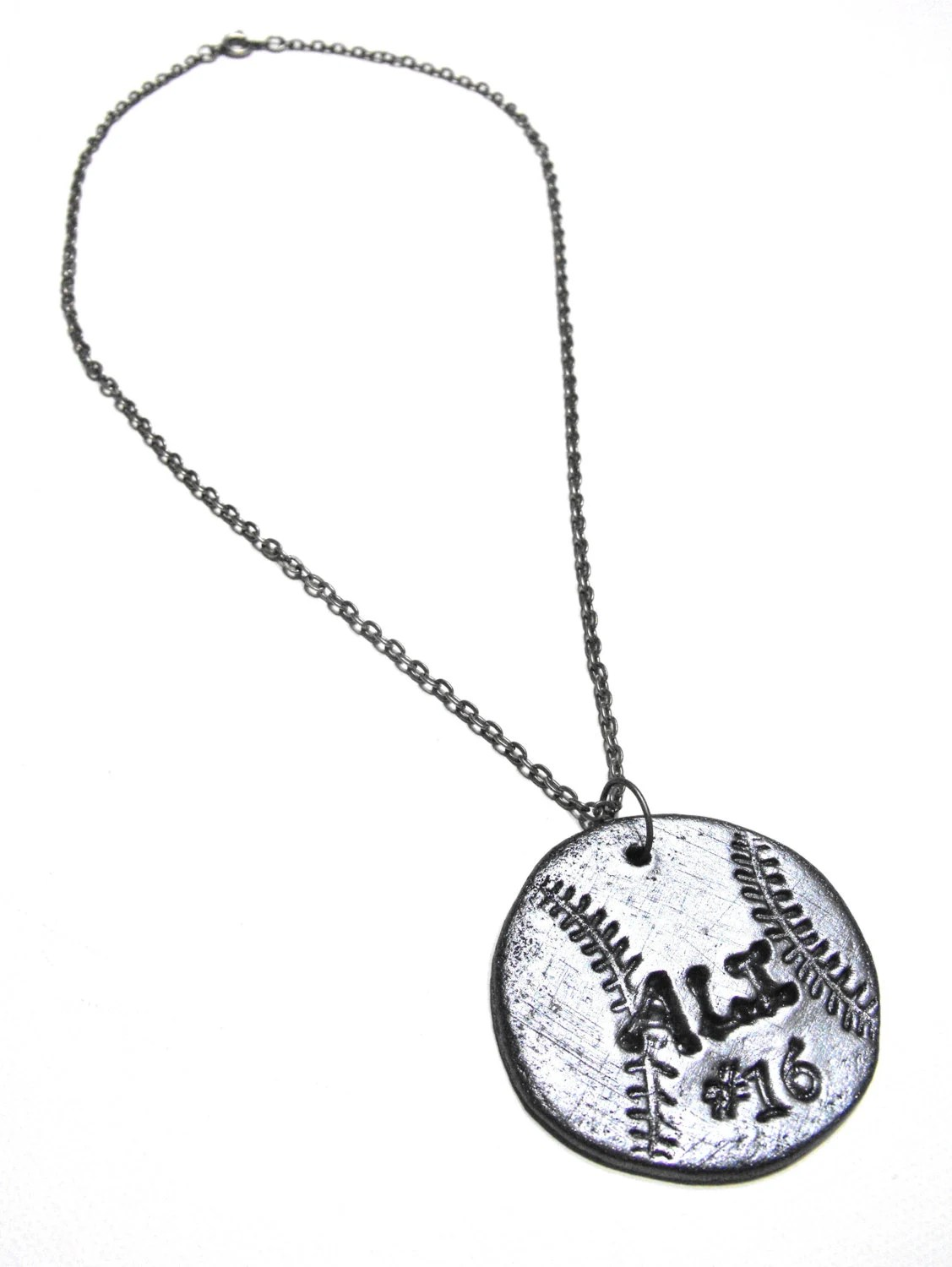 Softball Necklace Personalized With Player S Name