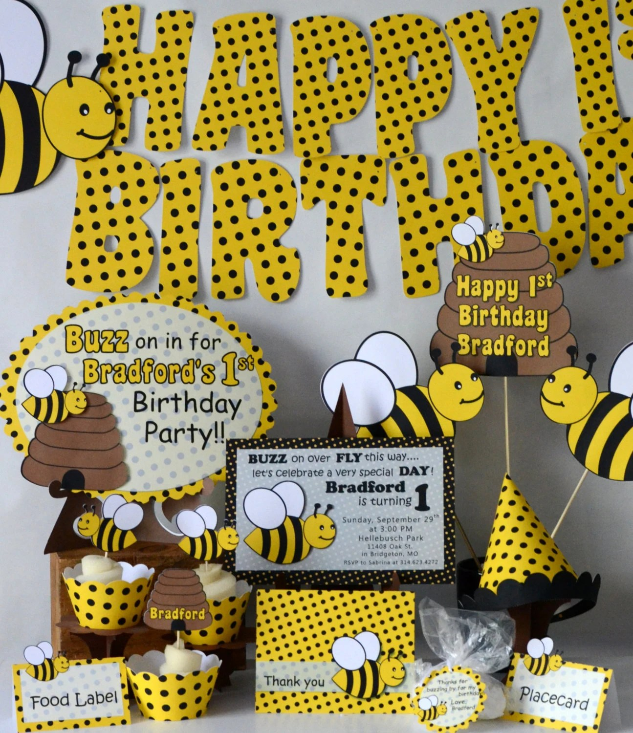Bumble Bee Decorations Door Sign Honey Bee Party