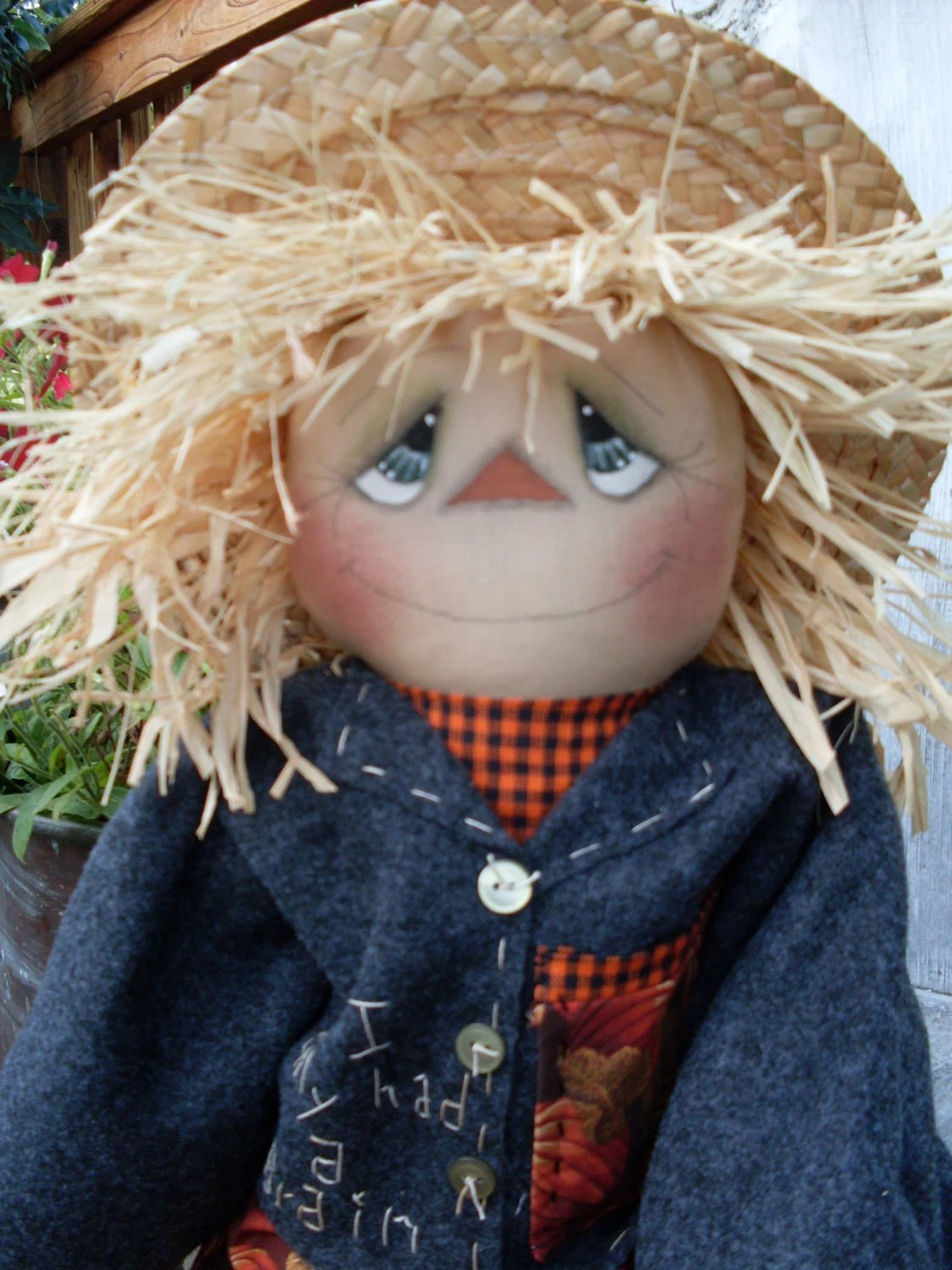 Primitive Fall Halloween Scarecrow Doll Pattern Instant