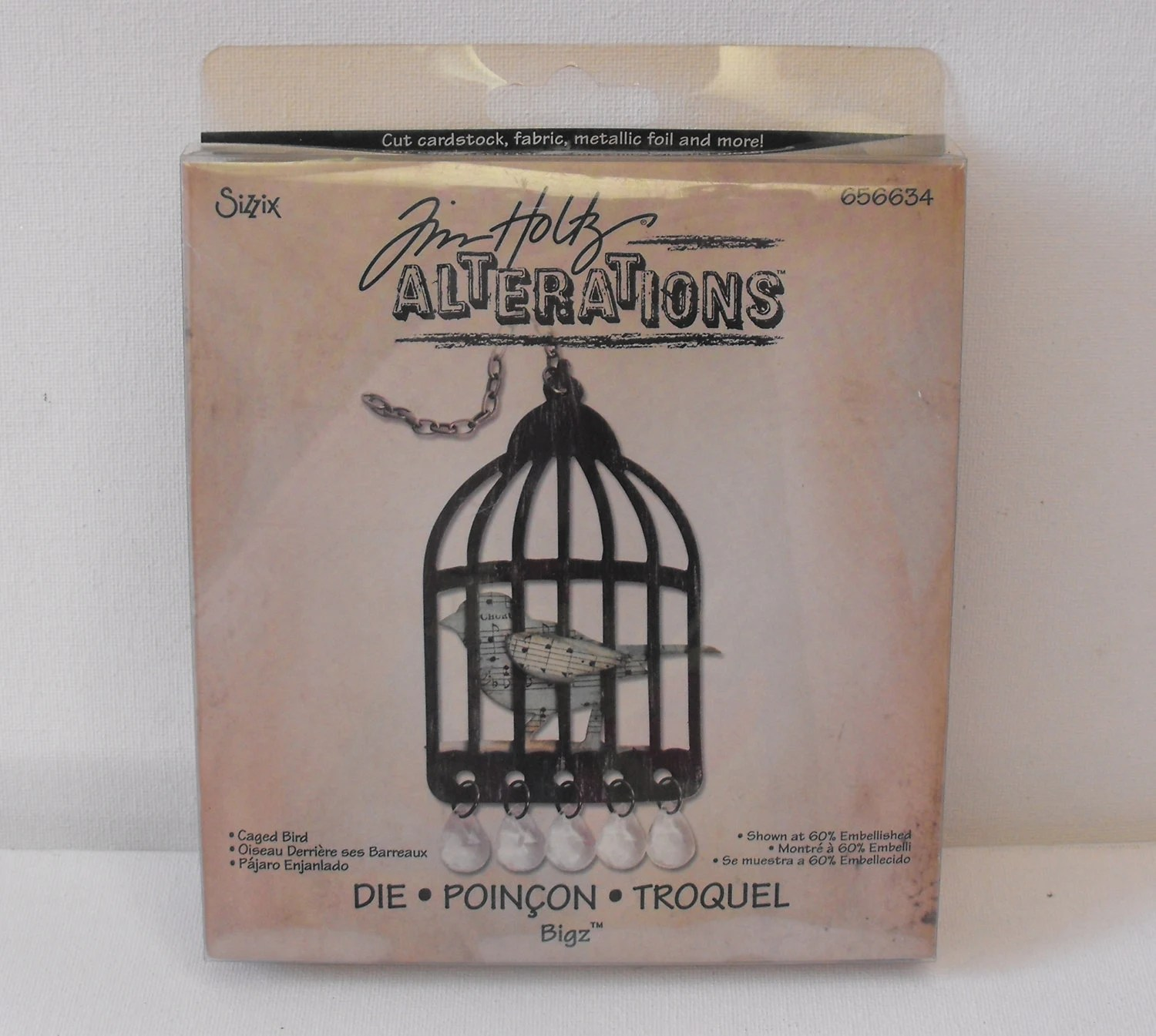 Bird Cage Die Tim Holtz Design Sizzix Alterations Distressed Scrapbooking Stamping Paper Craft Mixed Media