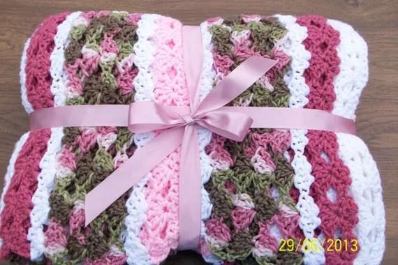 Save 10 Dollars Now Girl S Pink Camo Afghan