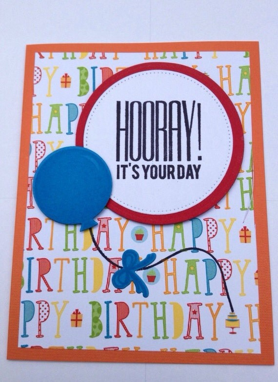 Happy Birthday Card with balloon