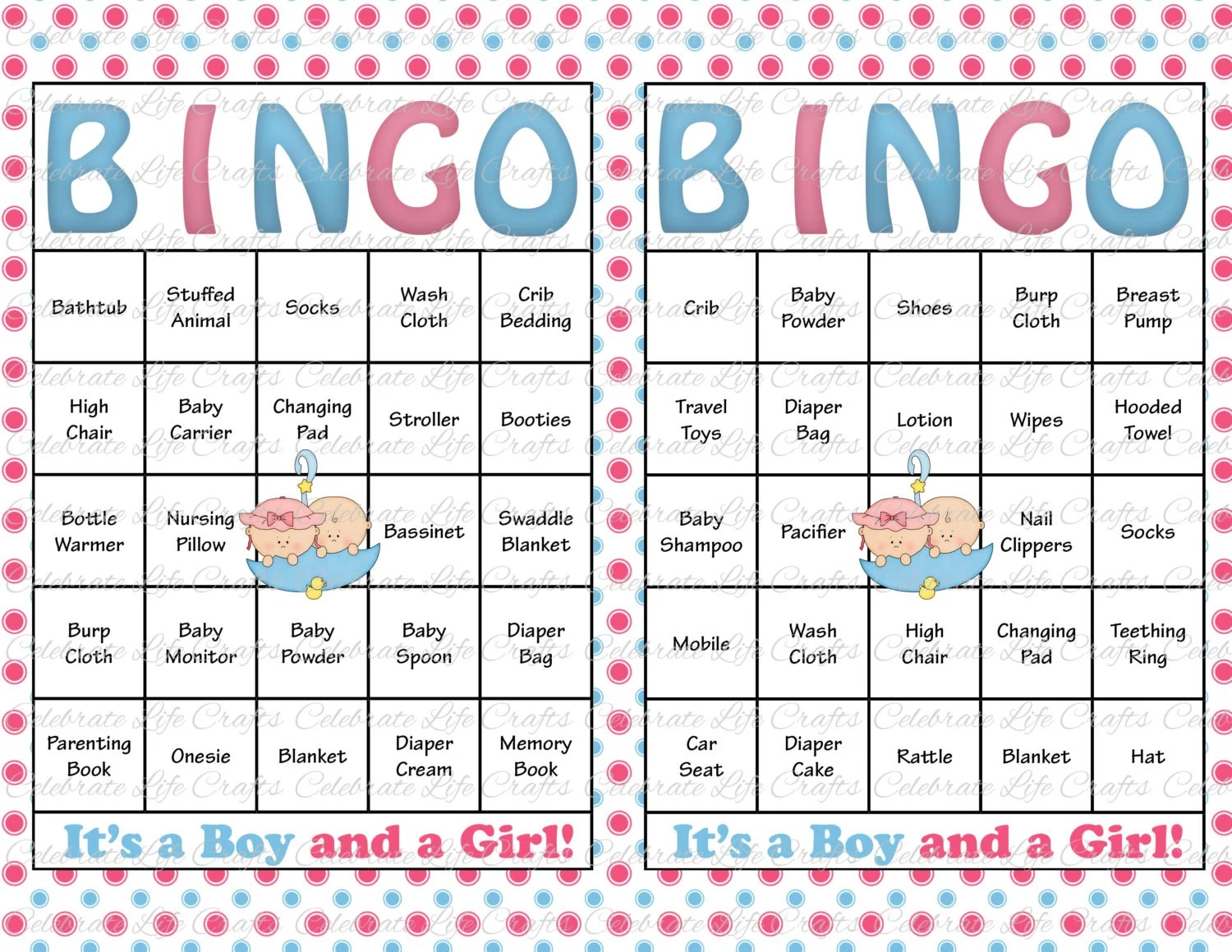 Baby Shower List Gifts Template