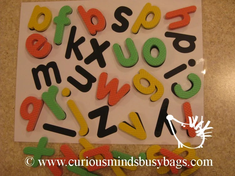 Foam Alphabet Shadow Puzzle