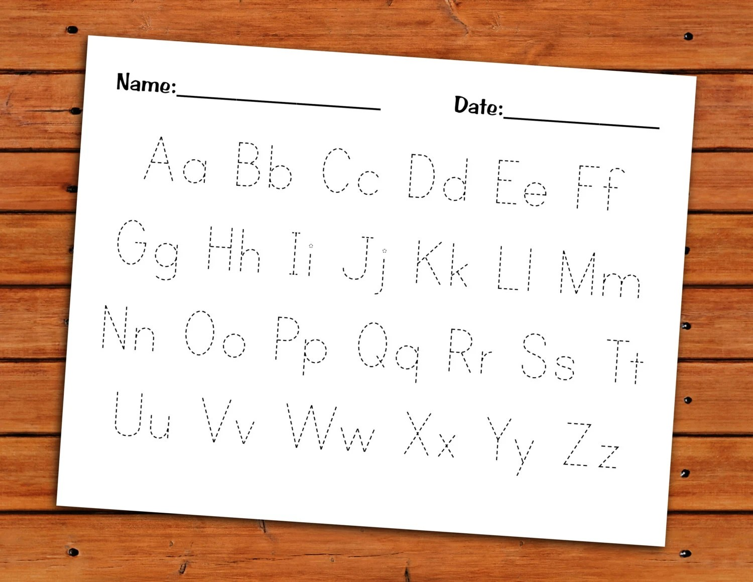 Alphabet Trace Worksheet Printable