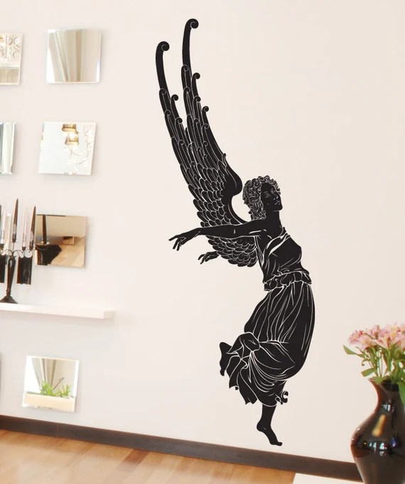 Angel Taking Off Wall Decal by Stickerbrand