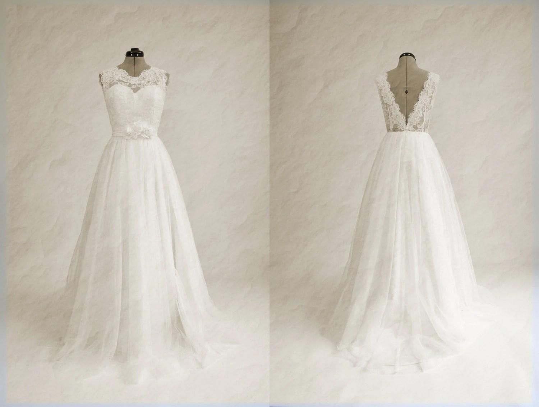 Lace Wedding Dress Wedding Dress Bridal Gown Sleevelss