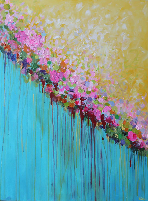 Modern Flower Paintings Acrylic