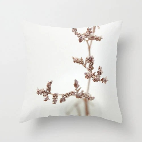 """Throw Pillow Cover - Little Secrets  - 16""""x16"""" 18''x18'' 20''x20'' Photography 100% Spun Polyester white pink soft vintage grey beige floral - SYoungPhotography"""