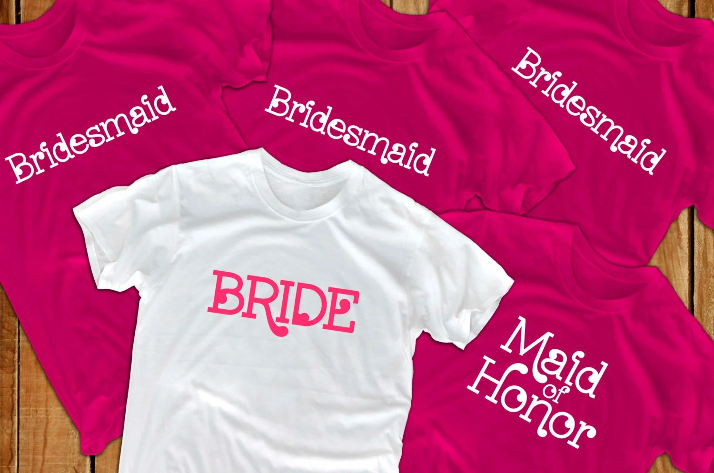 Bride Shirts 5 Bridal Party Bridesmaid Gift For Bride To Be