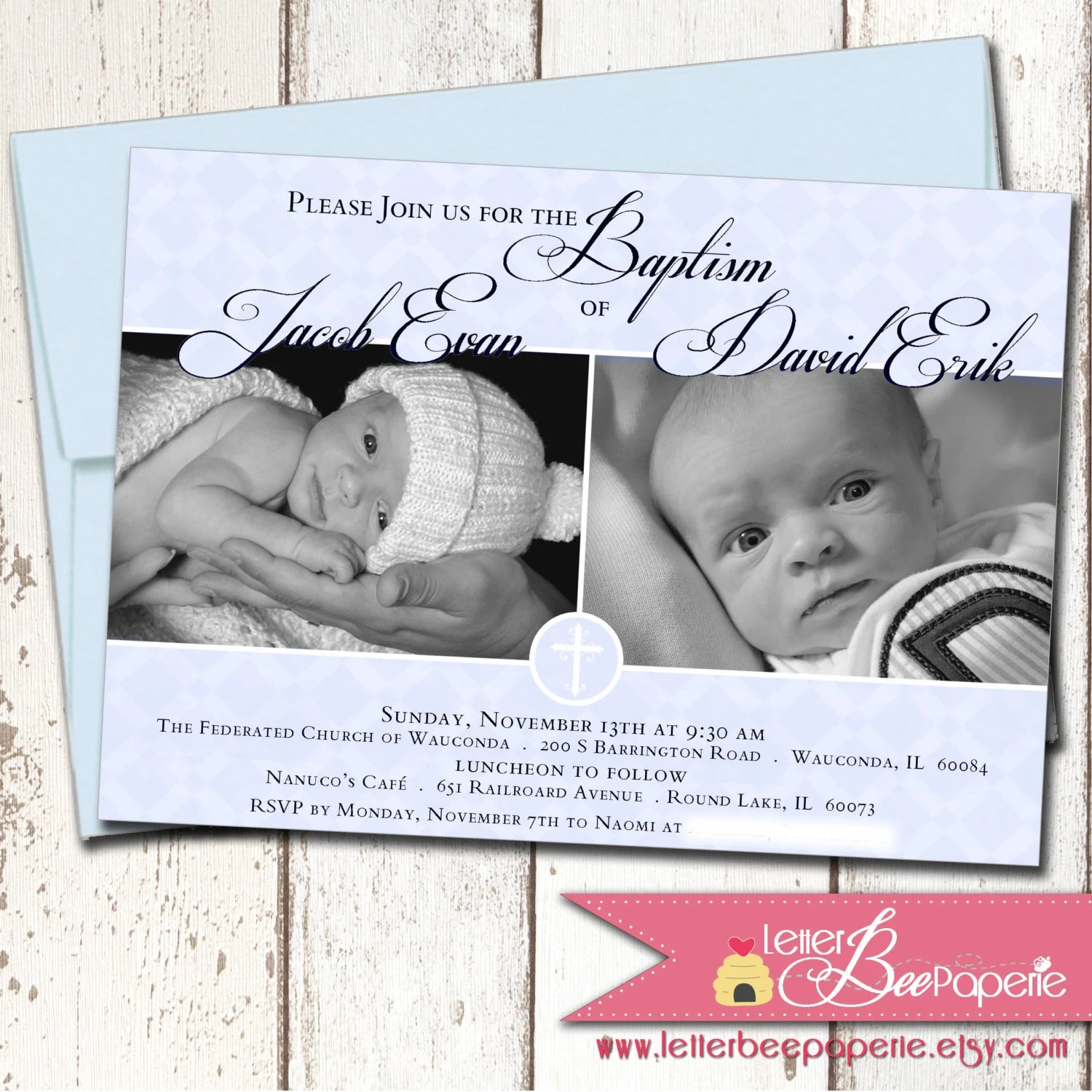 Baptism Invitation Card Baby Boy