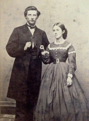 Strange Fist 1800s Photo Couple Antique