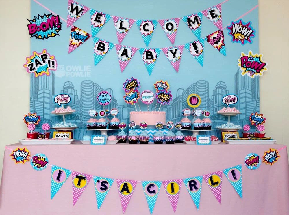 Party Decorations Supergirl Birthday