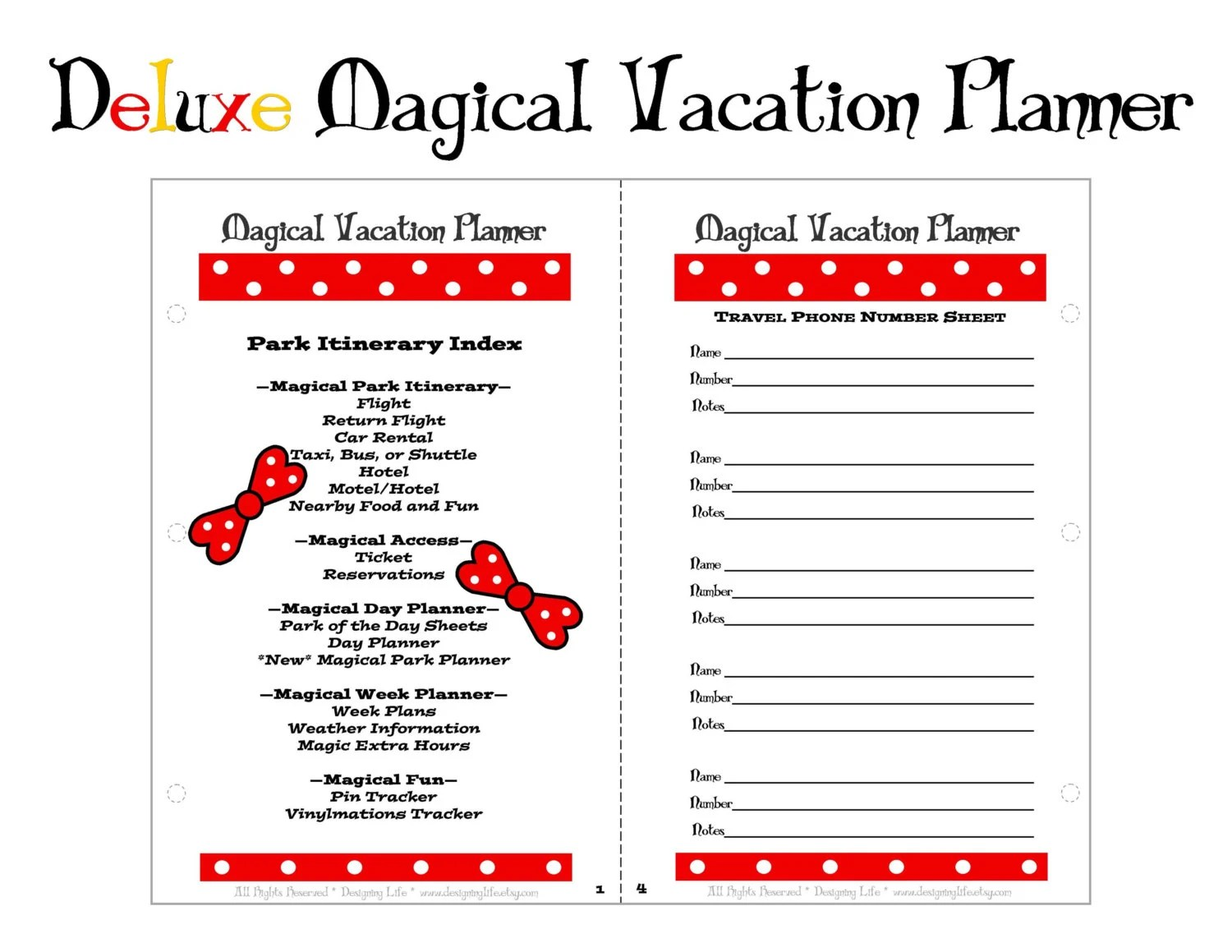 Vacation Planner Deluxe Magical Trip Organizer Mini Pages