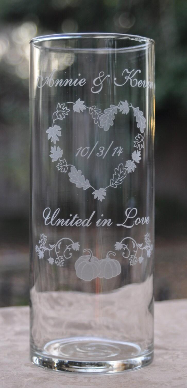 Fall Wedding Unity Candles