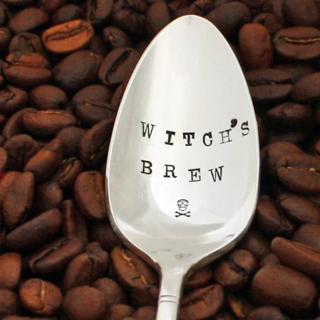 witches brew halloween coffee spoon