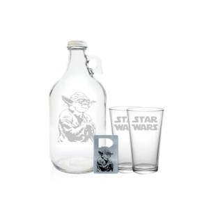 "Star Wars Growler 64oz- Beer Growler with Star Wars Engraving- ""Star Wars"" Gift"