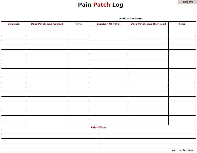 Blank medication log form templates maxwellsz
