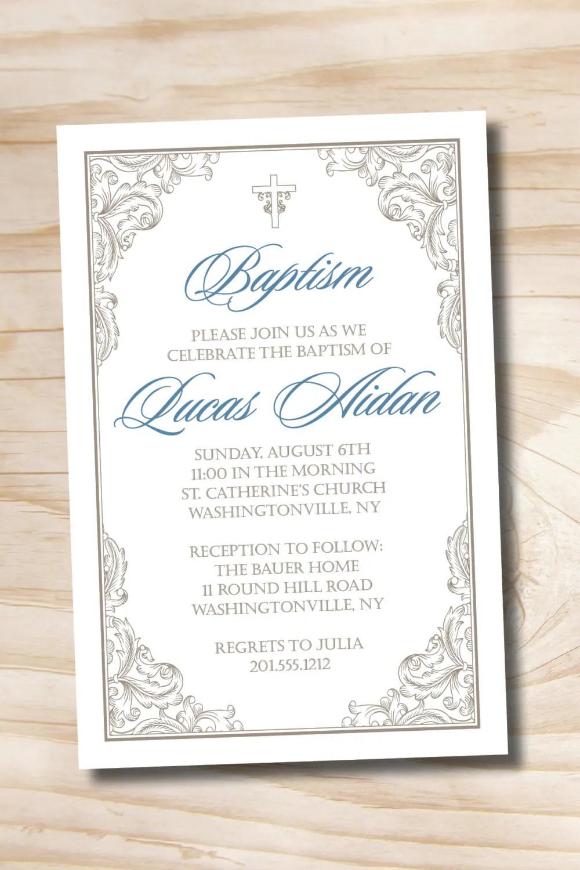 Baptism Invitations Custom