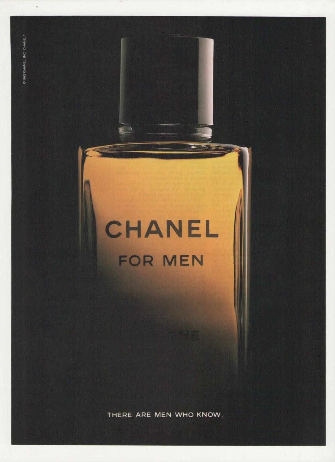 1984 Chanel For Men Advertisement Gentleman Cologne By