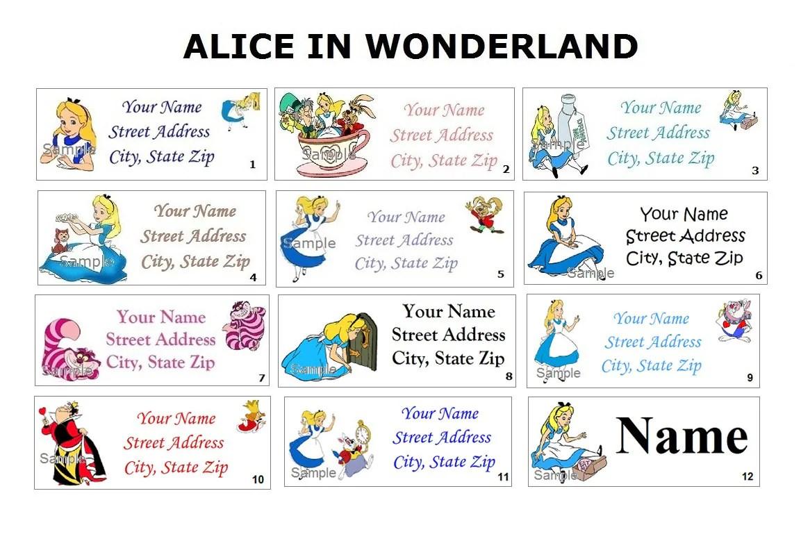 Cute Alice In Wonderland Return Address Party Amp Name Sticker