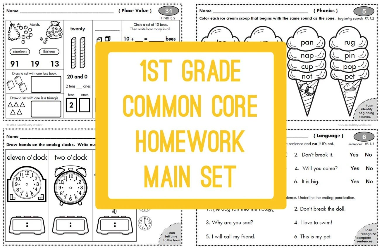 1st Grade Common Core Worksheet