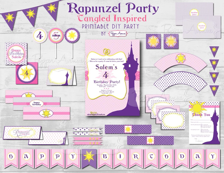 Custom Rapunzel Tangled Inspired Party Package Diy