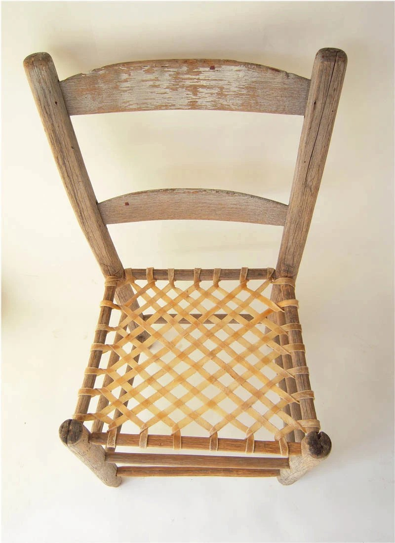 ladderback chair with 2 rungs early american furniture