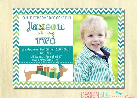 birthday invitation 2 year old boy