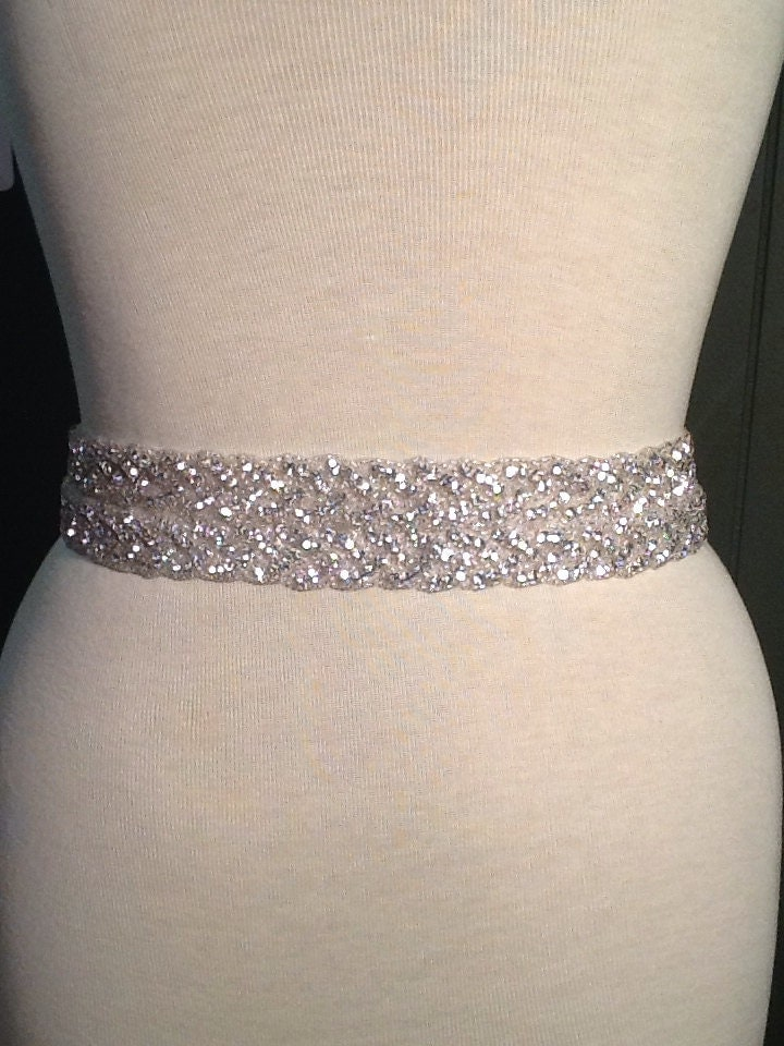 Wedding Dress Belts With Bling