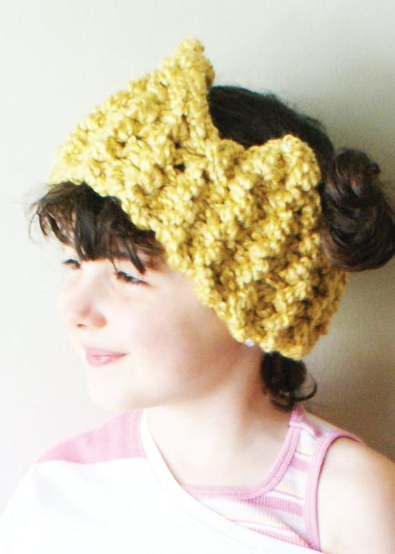 Chunky Knit Ear Warmer Pattern
