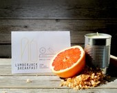 06 // Lumberjack Breakfast - 15oz scented soy candle in recycled tin can (Cedar and Grapefruit) - ItalicHome