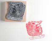 Father Christmas Stamp or Santa Stamp - noolibirdstamps