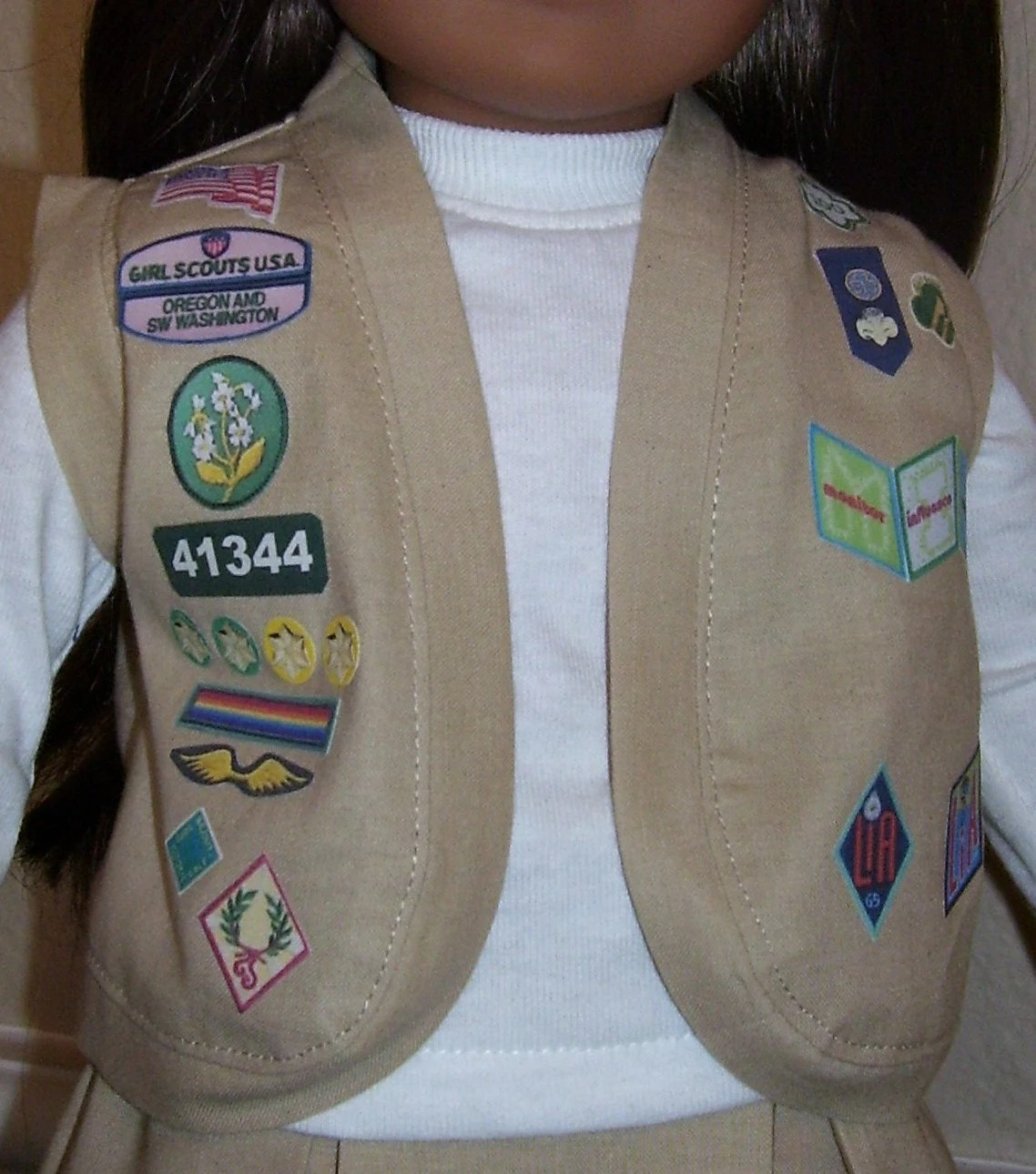 18 Inch Doll Clothes Cadette Girl Scout Vest Or Sash