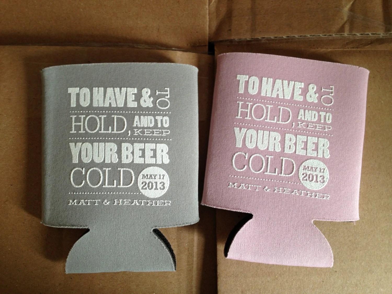 Beer Koozie Wedding Favors
